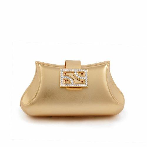 Bolsa de embrague, Kayla, de Oro, de metal cepillado