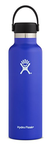 Hydro Flask 18 Oz Double Wall Vacuum Insulated Stainless Steel Leak Proof Sports Water Bottle  Standard Mouth With Bpa Free Flex Cap  Blueberry