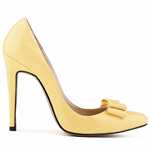 FLYRCX Einzelne Schuhe der Frühlings- und Herbstmode beschuht süße Bunte Flache Mundstilettfersen