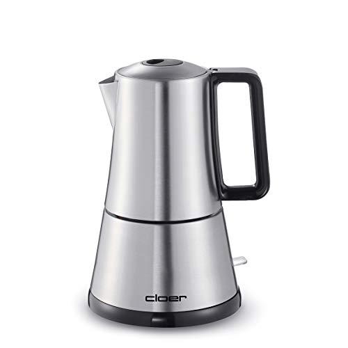 Cloer 5918 – Cafetera espresso eléctrica 3-4 tazas, acero inoxidable, cierre de seguridad, válvula de seguridad…