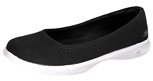 Step Trainers Skechers On Lite Slip White Black Go Women's Nvw Bloom Slipper Blush XqqHp5Ww
