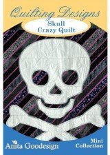 Price comparison product image Anita Goodesign ~ Skull Crazy Quilt ~ Embroidery Designs CD