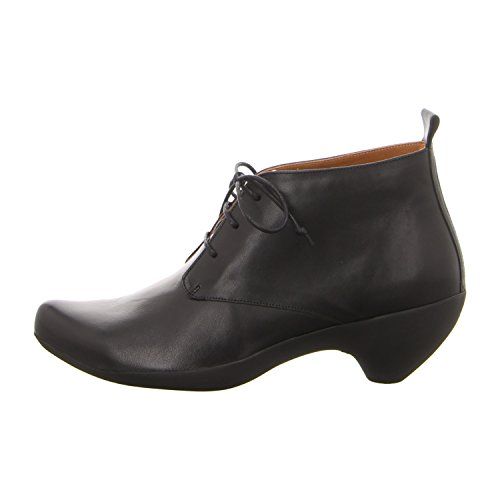 para Tbike Neuls de mujer de Zapatos cordones Black Piel Tracey Fern reflective black qdz0xw64E