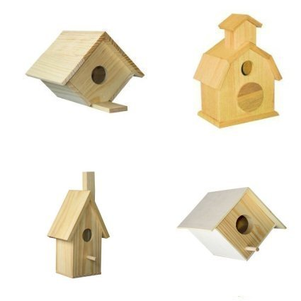 4 Assorted Bird House Kits