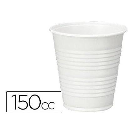 VASO DE PLASTICO BLANCO 150CC PARA MAQUINAS DE VENDING DE CAFE PAQUETE DE 100