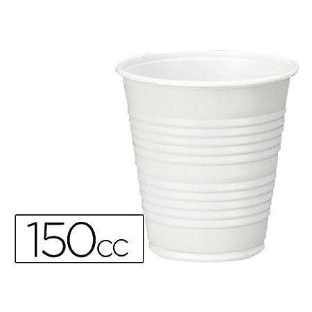 VASO DE PLASTICO BLANCO 150CC PARA MAQUINAS DE VENDING DE CAFE PAQUETE DE 100: Amazon.es: Hogar
