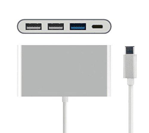 Amazon.com: 4-in-1 USB C Hub Aluminum Adapter, Type C USB 3.0/ USB 2.0 Ports with Type C Charging Port for MacBook MacBook Pro 2016 Lenovo Asus Google Pixel ...