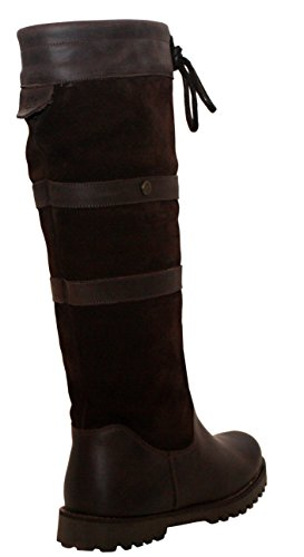 Cabotswood Womens Ladies Leather Long Brown Waterproof Horse Riding Yard Stable Country Boots UK Sizes 3-8 Dark Brown (Suede) NMorsGiJ