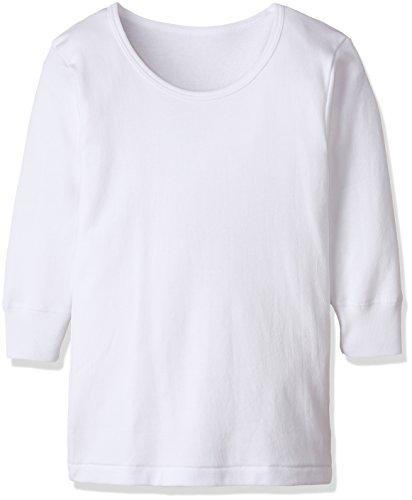 군제 GUNZE 이너 셔츠 키즈 따스한 두꺼운 천면100% 긴 소매 둥근 목 모양2매 셋트