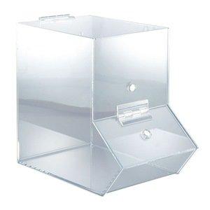 Medium Dispensing Bin, Clear Acrylic, with Door (Clear Acrylic Dispensing Bin)