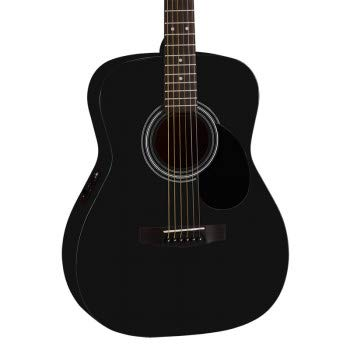Cort-AF510E-Electro-Acoustic-Guitar-Black-With-Sponge-Bag-Belt-String-Set-String-Winder-Plectrums-Combo-Pack-Black