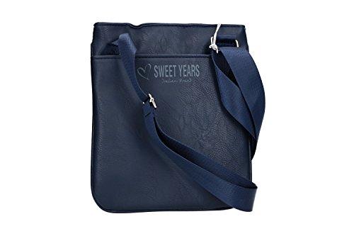 plana bolsa Bandolera Sweet Years hombre VF436 azul bandolier 1wZI4nqUYF