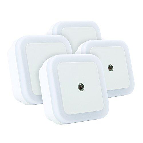 eTopLighting [4-Pack] Ambient Sensor LED Night Light with Plug-In Prongs and Auto On/Off Bedroom Bathroom Hallway Children's Nursery Night Lamp, APL1469 For Sale