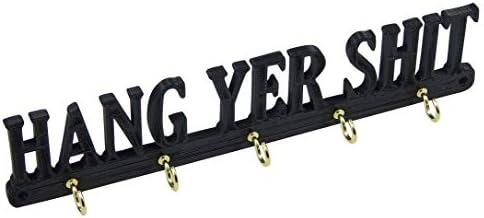 Hang Yer-Shit Funny Key Rack Hanger Holder Entryway Organizer Hooks Decor Your