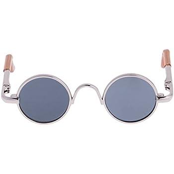 c7173d3a34 MonkeyJack 1 3 BJD Fashion Hippy Style Round Frame Glasses Eyewear for  Dollfie LUTS SOOM DZ SD17 Dolls Silver Frame Black Lens