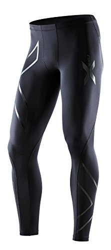 2XU Men's Recovery Compression Tights, Black/Black, Small Tall by 2XU (Image #5)