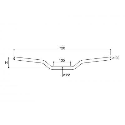 RIZOMA MA001B//271 RIZOMA Manillar Universal Aluminio /Ø 22mm Color Negro MA001B//271