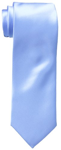 Haggar Men's Washable Satin Solid Tie, Light Blue, One Size -