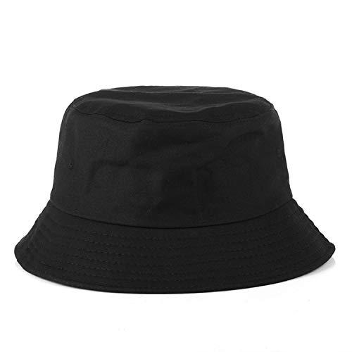 Rzxkad Black White Hat Fishing Bucket Hat Korean Hip Hop Streetwear Men Women Bucket Girls Outdoor Hiking Hunting Hat (Streetwear Bucket Hats)