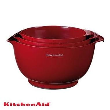 KitchenAid Professional Series Red Mixing Bowls, Set of 3