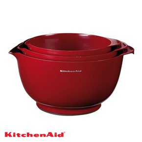 KitchenAid Professional Series Red Mixing Bowls, Set of 3