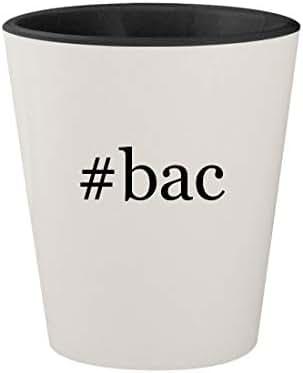 #bac - Ceramic Hashtag White Outer & Black Inner 1.5oz Shot Glass