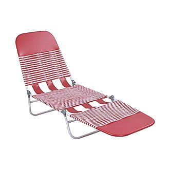 EG Essential Garden PVC Chaise Lounge - Red