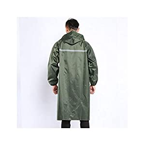 Qivor Waterproof clothing Adult Raincoat, Long Poncho, Suitable For Outdoor Travel, Green Men's snow raincoat (Color…