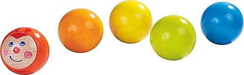 HABA Caterpillar Colorful Wooden Rainbow Ball Set For 2 and Up (Made in Germany) by HABA