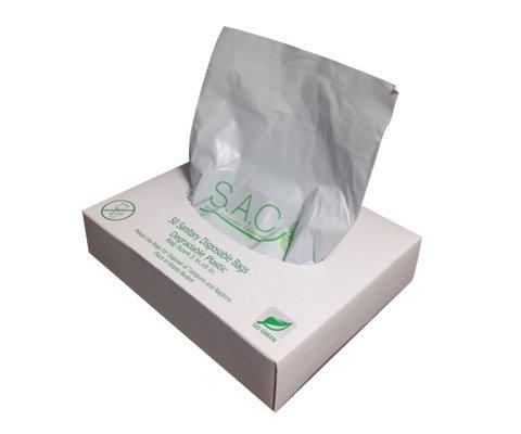SB3000WH-5 Sanitary Napkin & Tampon Disposal Bag Dispenser Kit -Box Format, White