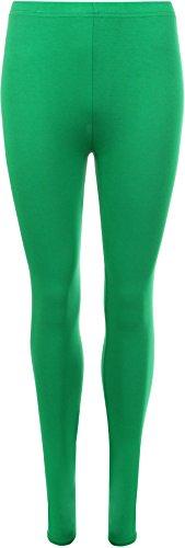 WearAll Plus Size Women's Full Length Leggings - Green - US 20-22 (UK -
