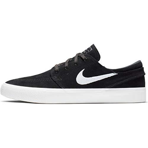 Nike SB Zoom Janoski RM Mens Skateboarding Shoes Black/White-Thunder Grey 9.5 M US (Nike Stefan Janoski All White)