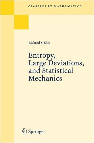 Entropy, Large Deviations, and Statistical Mechanics (Classics in Mathematics)