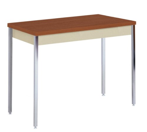 Sandusky Lee AT4020-PU Putty Powder Coat Activity/Utility Table with Oak Top, 29