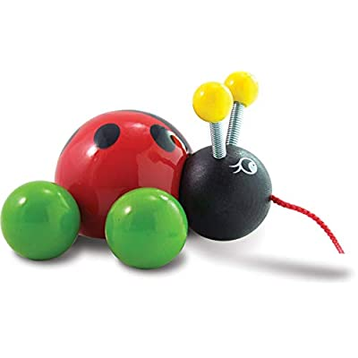 Vilac Baby Lady Bug Pull Toy : Push And Pull Baby Toys : Baby