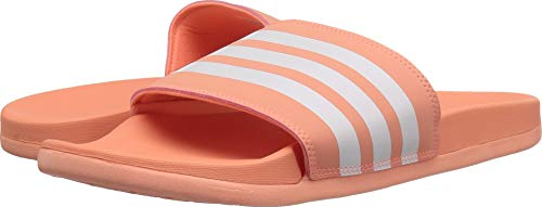 adidas Women's Adilette Cloudfoam+ Slide Sandal, White/Chalk, used for sale  Delivered anywhere in USA
