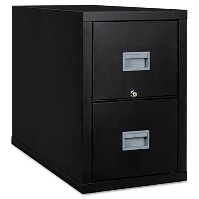 FireKing 2P1831CBL Patriot Insulated Two-Drawer Fire File, 17-3/4w x 31-5/8d x 27-3/4h, Black