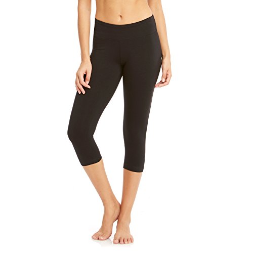 bally-flat-waist-yoga-capri-leggings-small-black