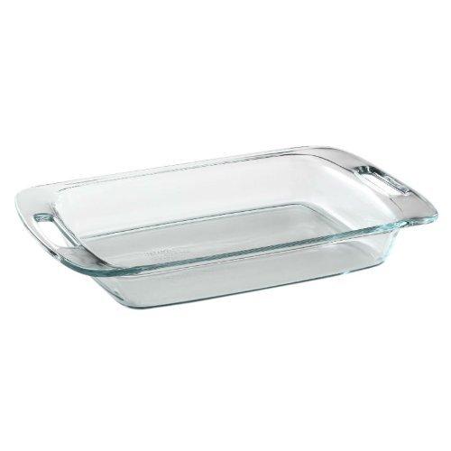 Pyrex Easy Grab 3-Quart Oblong Glass Bakeware Dish (Pyrex Baking Dish 9x13)