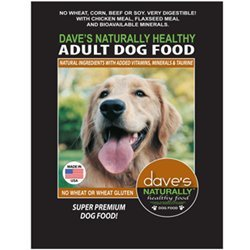 Dave'S Pet Food Naturally Healthy Adult Dry Dog Food, 18 Lb
