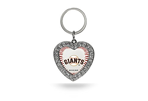 Rico MLB San Francisco Giants Rhinestone Heart Keychain