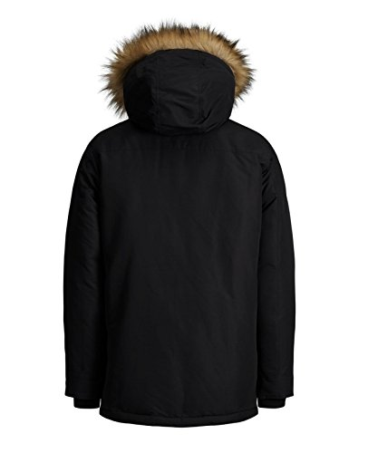 Jcopeak Jack one amp; Fit Parka Uomo Schwarz Jacket Jones black Giacca Jcohollow PZrwPax