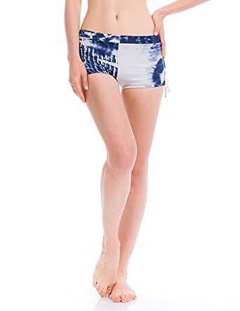 Sey Womens Activewear Ruche Shorts Tie Dye Navy XL