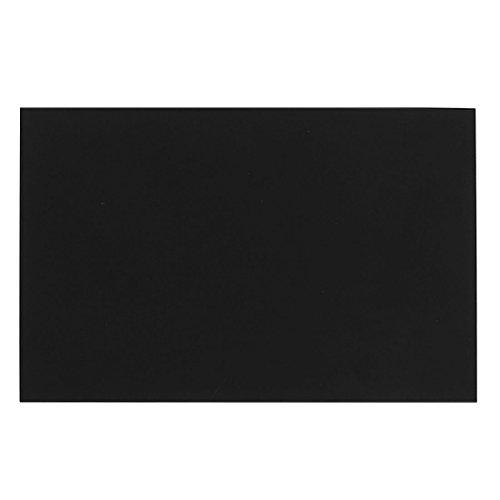 Uxcell 1 mm Black Plastic Acrylic Cut Plexiglass Sheet A5 Size, 148 mm x 210 mm