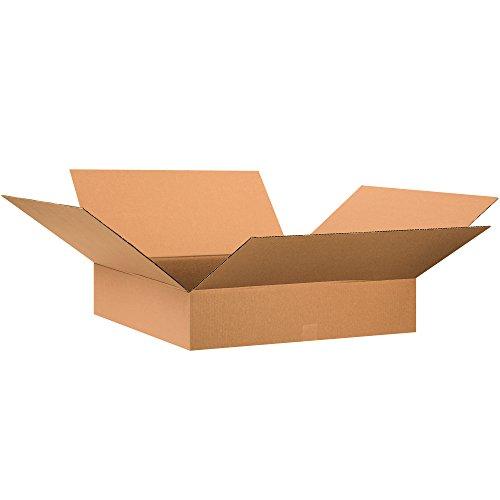 Aviditi 28286 Single-Wall Flat Corrugated Box, 28