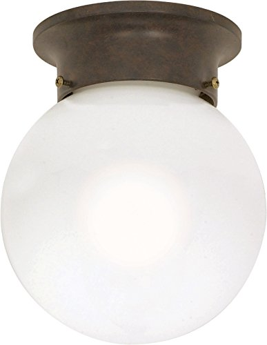 Nuvo 60/247 6-Inch Ball Old Bronze with White Glass