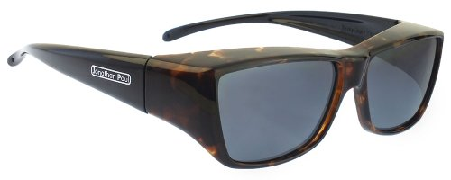 Fitovers Neera Large Polarized Over Sunglasses ; Leopard-Black & Polarvue - Vs Sunglasses Brown Gray
