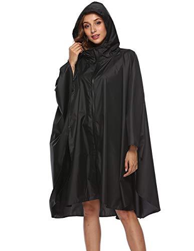 (Buauty Unisex Rain Poncho Cape Riancoats Cloak Lightweight Waterproof Breathable)