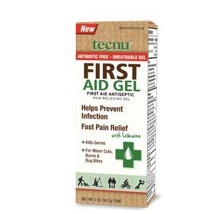 Antiseptique Tecnu First Aid & Gel Soulagement de la douleur, 2 oz. Tube