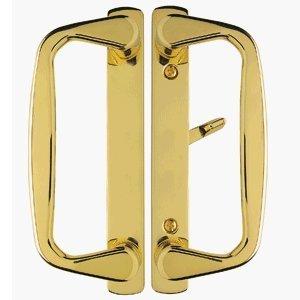Aspen Sliding Door Handle in Polished Brass Finish Fits 3-15/16